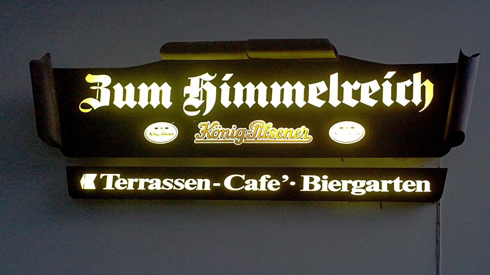 Café Himmelreich (Cafe'?).